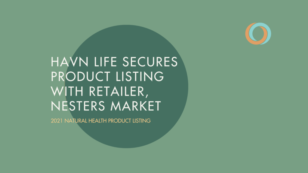 Havn Life Sciences authorized product listing with Canadian health & wellness retailer, Nesters Market