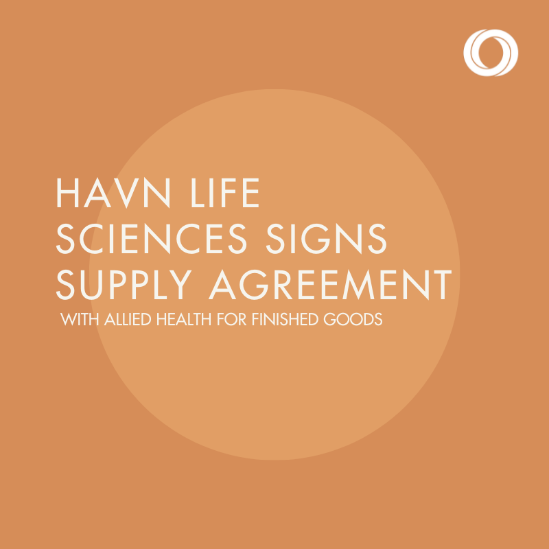 HAVN Life Sciences Signs Finished Goods Supply Agreement with Allied Health